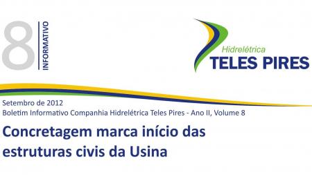 Boletim Informativo Companhia Hidrelétrica Teles Pires - Volume 8
