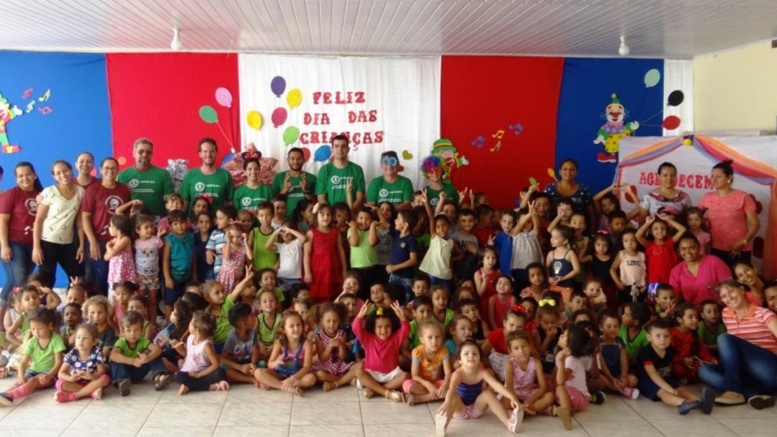 Dia das Crianças: Colaboradores da UHE Teles Pires realizam ação voluntária em creche