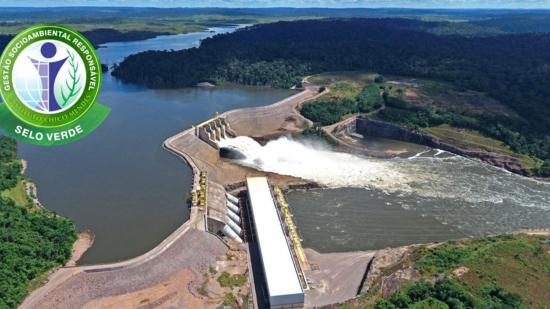 Selo Verde: Usina Hidrelétrica Teles Pires conquista certificado de gestão socioambiental responsável