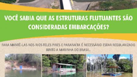 UHE Teles Pires alerta sobre instalação de flutuantes nos rios Teles Pires e Paranaíta