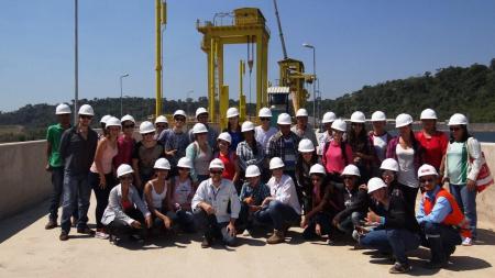 Alunos do Programa de Educação Ambiental visitam a Hidrelétrica Teles Pires