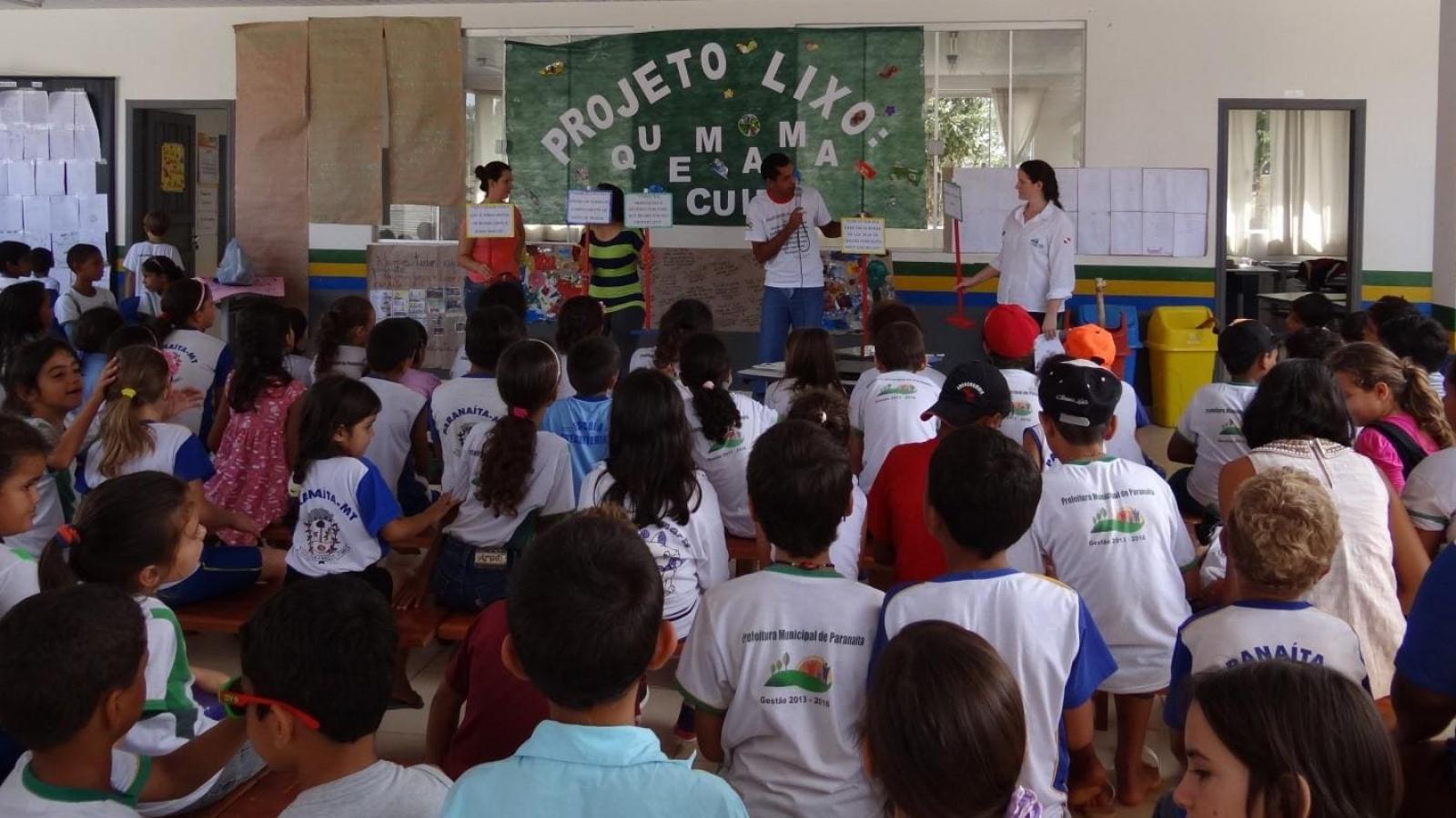 Campanha sobre o lixo apresenta resultados positivos em Paranaíta