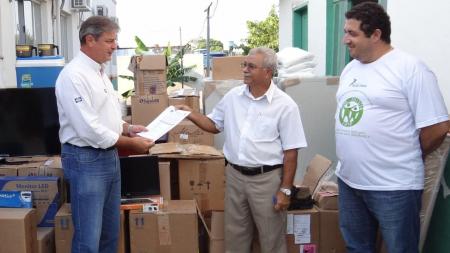 CHTP entrega equipamentos para combate a malária em Alta Floresta