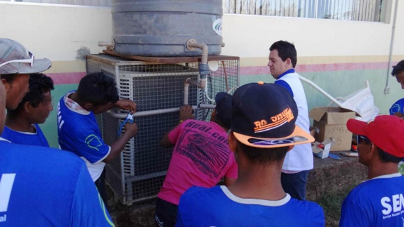 CHTP realiza curso de instalação hidráulica para comunidades indígenas