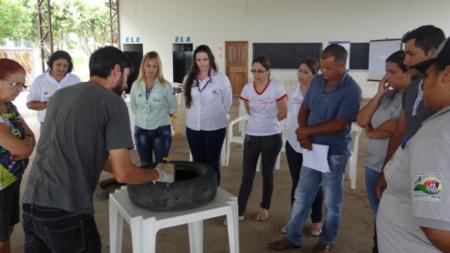 Curso de reaproveitamento de pneus é realizado em Paranaíta