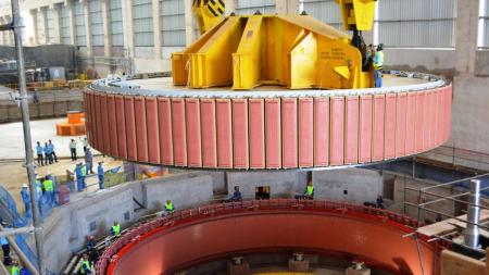 UHE Teles Pires instala o rotor da segunda unidade geradora