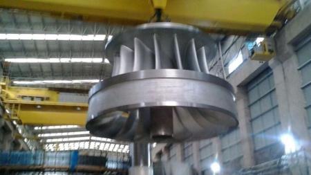 UHE Teles Pires instala o rotor da terceira turbina