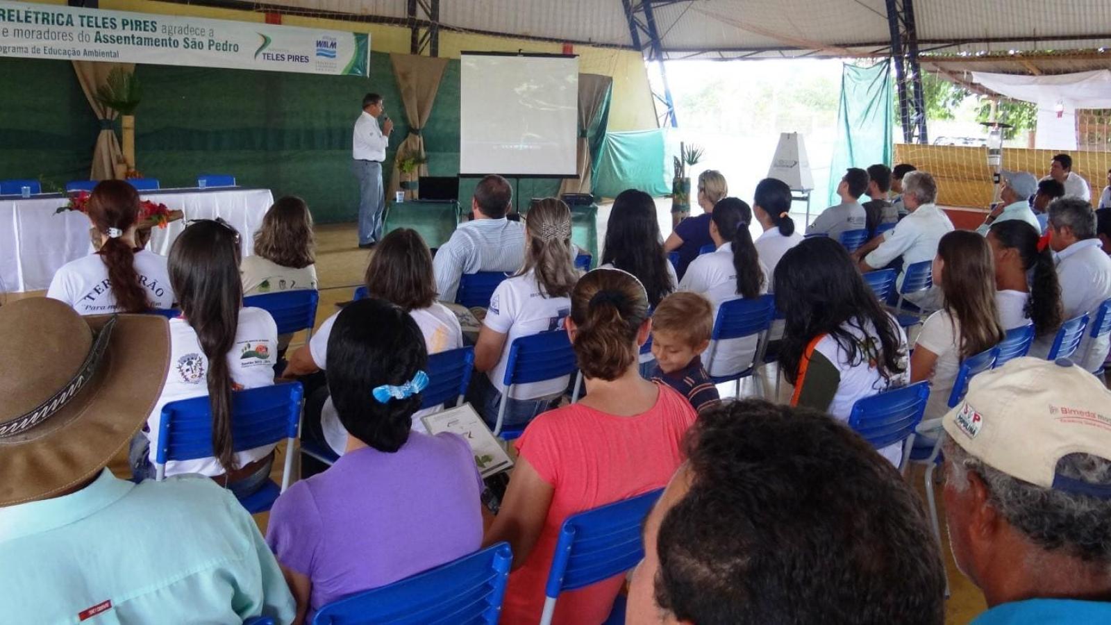 UHE Teles Pires promove Seminário sobre Saúde e Meio Ambiente no assentamento São Pedro