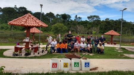 """Companhia Hidrelétrica Teles Pires doa mudas de espécies nativas para o paisagismo do """"Lago da C"""""""