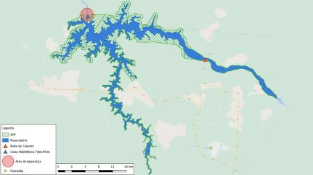 A Companhia Hidrelétrica Teles Pires - CHTP Informa aos Usuários do Reservatório