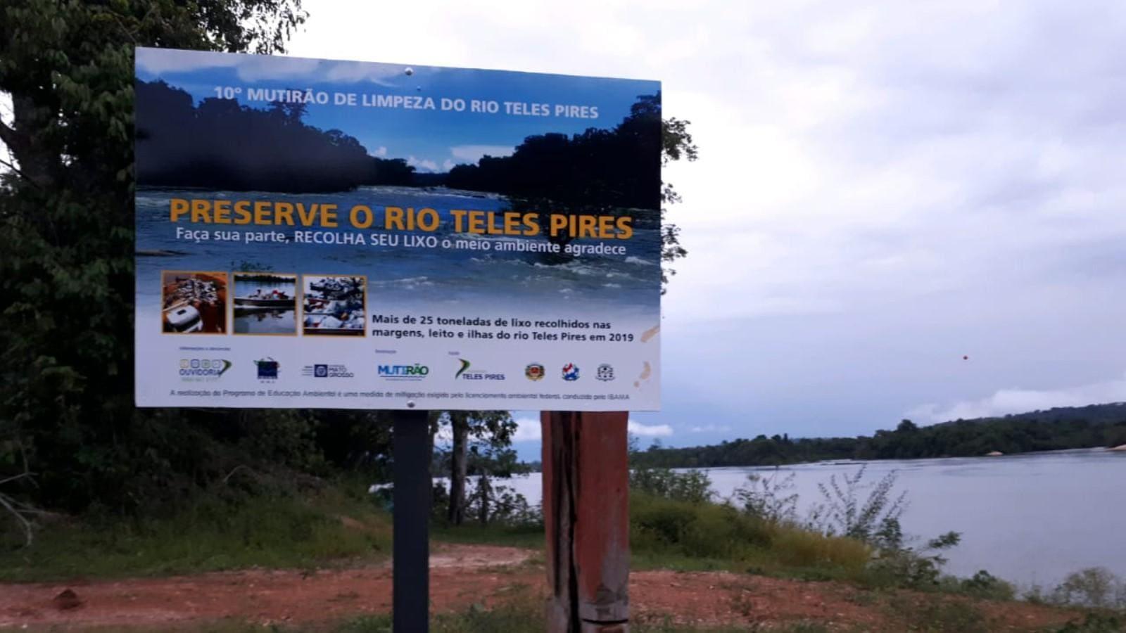 Companhia Hidrelétrica Teles Pires apoia Mutirão de Limpeza do Rio Teles Pires