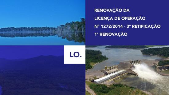 LO - Renovação da Licença de Operação Nº 1272/2014 - 3ª Retificação - 1ª Renovação