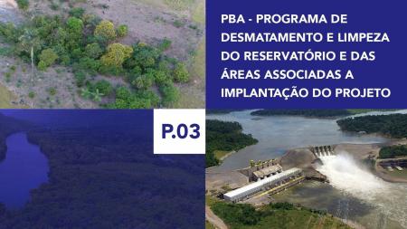 P.03 - Programa de Desmatamento e Limpeza do Reservatório e das Áreas Associadas a Implantação do Projeto