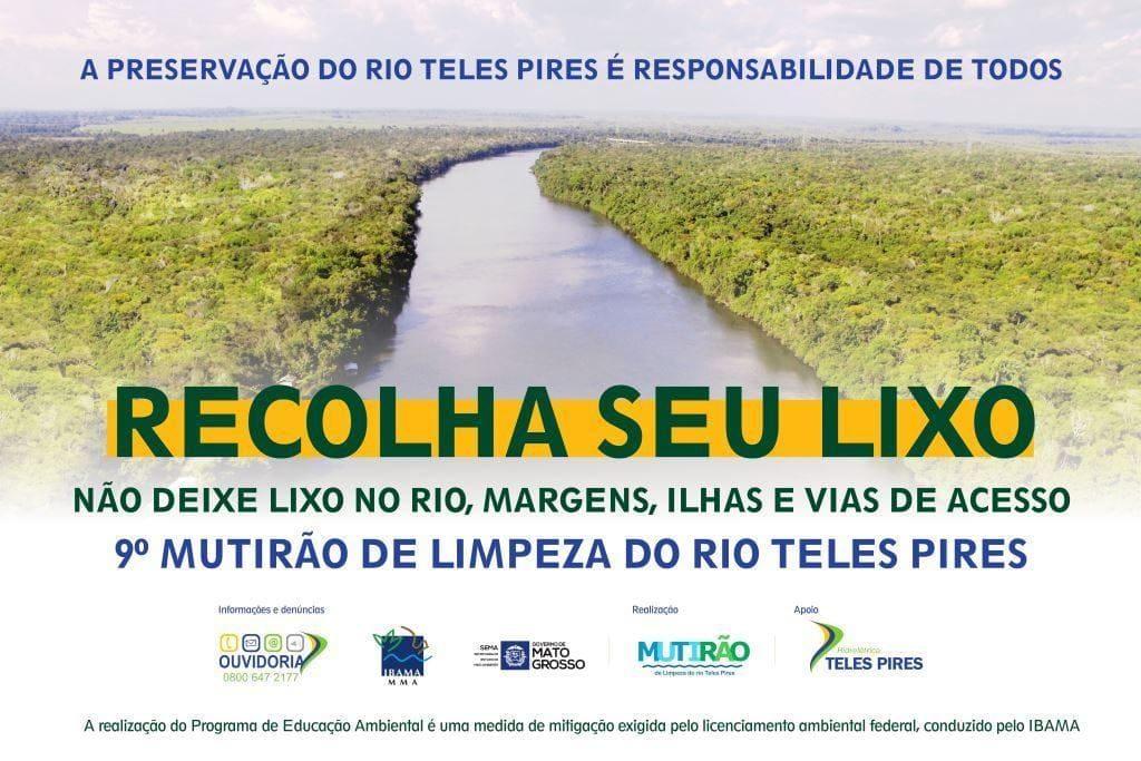 9º Mutirão de Limpeza do Rio Teles Pires