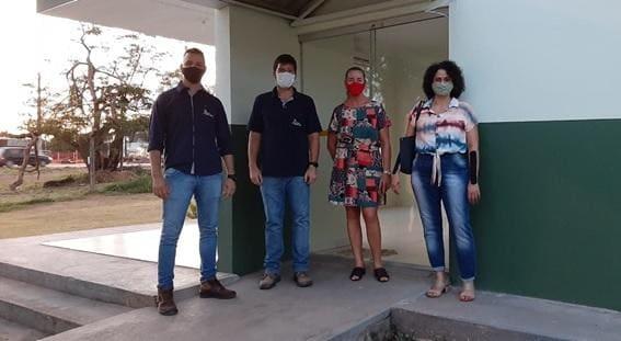 Foto: Ederson Luiz e Arthur Teixeira representantes da CHTP e Clades Zimmermann e Célia Araújo representantes da UNEMAT