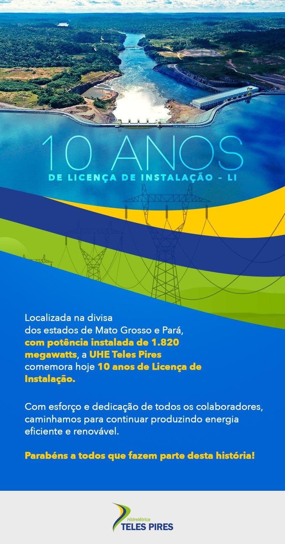 10 Anos de Licença de Instalação - LI
